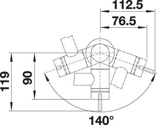 blanco seda armatur chrom mattschwarz hochdruck sp len armaturen armaturen. Black Bedroom Furniture Sets. Home Design Ideas